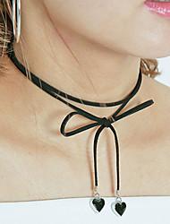 Modische Halsketten Halsketten Schmuck Hochzeit / Party / Alltag / Normal Modisch Aleación / Baumwollflanell Schwarz 1 Stück Geschenk