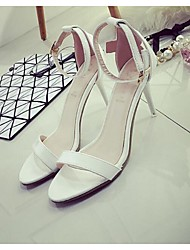 Women's Sandals Summer Sandals PU Outdoor Stiletto Heel Others Black / Red / White Others