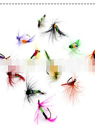 12 pcs Fliegen Fliegen Zufällige Farben 3 g Unze mm Zoll,Fester Kunststoff Köderwerfen