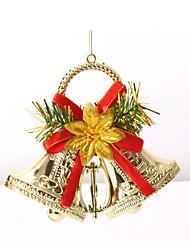doubles cloches jingle noël ornements d'arbres guirlande  cloches de noël joyeux décoration pour les fournitures de fête à la