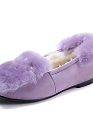 Women's Loafers & Slip-Ons Spring / Fall / Winter Comfort Leatherette Dress / Casual Flat Heel Slip-on Black / Purple Others