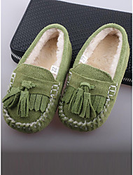 Girl's Loafers & Slip-Ons Others Cowhide Casual Green Pink Gray