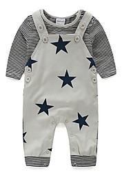 Baby Casual/Daily Solid Clothing SetCotton Fall-Gray