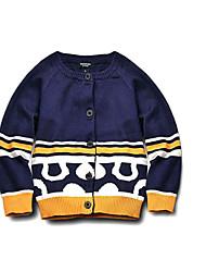 Pull & Cardigan Boy Imprimé Décontracté / Quotidien Coton Hiver / Printemps / Automne Bleu
