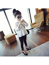 Girl's Casual/Daily Solid Clothing SetPolyester Fall White