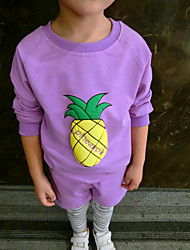Girl's Casual/Daily Solid Hoodie & SweatshirtCotton Spring / Fall Purple