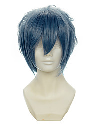 Final Fantasy Lucis Garam Mixed Smoky gray All-purpose Upturned Halloween Wigs Synthetic Wigs Costume Wigs