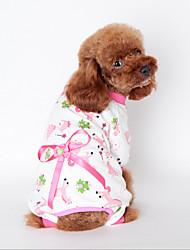 Hunde Pullover Pyjamas Gelb Blau Rosa Hundekleidung Winter Frühling/Herbst Karton Niedlich Lässig/Alltäglich