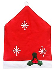 Hort Santa Claus Hat Chair Covers Christmas Dinner Table Party Christmas Chair Cover 50*65Cm Snowflake Chair Set