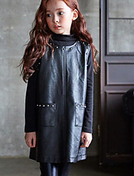 Girl's Casual/Daily Solid Overall & JumpsuitPU Spring / Fall Black