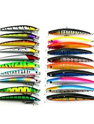 20 pcs Kits de leurre Multicolore 8.5G;11.2G g Once,9.5 CM:11.5CM mm pouce,Plastique souple Pêche en mer