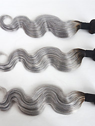 3 Pieces Body Wave Human Hair Weaves Ombre Hair Extension