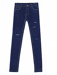 Women's Solid Blue / Black Jeans PantsSexy / Vintage / Street chic Spring / Fall