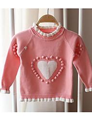 Mädchen Pullover & Cardigan-Lässig/Alltäglich einfarbig Baumwolle Herbst Rosa / Lila