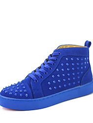 Men's Chukka Rivet Studded Ankle Suede Boots High Top SB Skateboard Basketball Sneakers Athletic Casual Outdoor Sport Winter Shoes