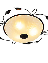 Creative round Glass Art Ceiling Ceiling Balcony Bedroom Minimalist Led Ceiling Lamp (Diameter 45CM)