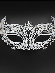 Mask with Rhinestone Details Laser Cut Metal Masquerade Mask Womens2002A1