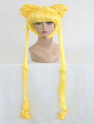 Anime Sailor Moon Sailor Moon Lemon Yellow Two Braids 140cm Long Wavy Cosplay Wig