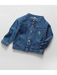 Girl's Casual/Daily Solid JeansCotton Spring / Fall Blue