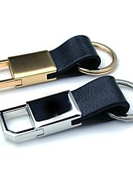 Men And Women Car Key Ring Leather Metal Key Ring