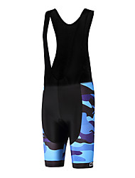 Sports QKI Cycling Bib Shorts Unisex Breathable /Camouflage/ Anatomic Design /Polyester/ LYCRA / 5D Pad