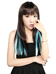 Neitsi 18'' Clip in on Highlight Streaks 5Pcs Synthetic Hair Extensions Light Blue