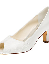 Women's Heels Spring / Fall Others Stretch Satin Wedding / Party & Evening / Dress Chunky Heel Others Ivory Others