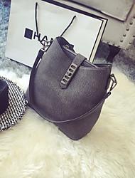 Women Shoulder Bag PU Casual Black Gray Purple Brown Blue