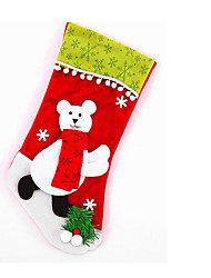 Large green velvet edge ball cartoon socks Christmas stocking Snowman old deer Plush knitting trade custom