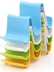 1PCS Plastic Kitchen Wave Shape Pot Pan Cover Lid Shell Stand Holder Racks Ladle Spoon Storage Rack  Random Color