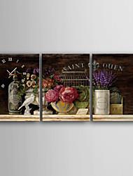 Moderne/Contemporain Autres Horloge murale,Rectangulaire Toile 35 x 50 (14'' x 20''),40 x 60 (16'' x24''),50 x 70 (20'' x 28'') Intérieur