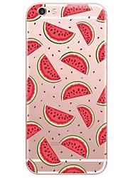 Cartoon Watermelon  Pattern Transparent Soft TPU Phone Case for iPhone 7Plus 7 6s Plus 6 Plus 6s 6 SE 5s 5