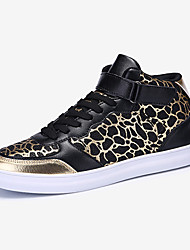 Men's Sneakers Spring / Fall Comfort PU Casual Flat Heel Lace-up Blue / Silver / Gray / Gold Sneaker
