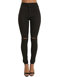 Pantaloni Da donna Skinny Semplice / Moda città Poliestere Media elasticità