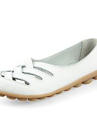Comfortable shoe leather soft sole shoes female big code 40-42 flat flat bottom female shoe