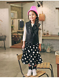 Girl's Casual/Daily Polka Dot DressPolyester Fall Black
