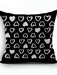 Polyester Decorative Cushion Pillow Cover Print Geometry Love Sofa Home Decor 45x45cm