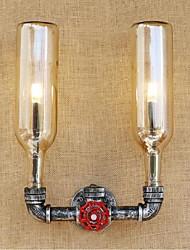AC 220v-240v 6W Е27 bgb010 ретро промышленный переключатель ветер привел бутылку воды Настенный светильник Настенный светильник янтарь