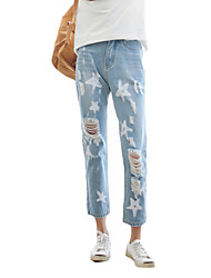 Women's Solid Blue Jeans PantsSexy / Simple / Street chic Spring / Summer