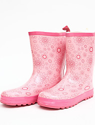 Girl's Boots Spring Fall Others Rubber Leather Outdoor Low Heel Others Pink Others