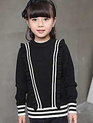 Girl's Casual/Daily Striped Sweater & CardiganWool Winter / Spring / Fall Black / Pink / Red / Gray