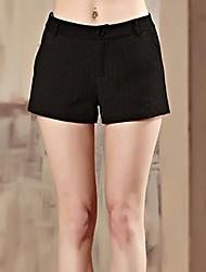 Damen Hose - Einfach Kurze Hose Baumwolle / Polyester Unelastisch