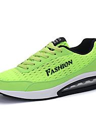 Feminino-Tênis-Conforto-Rasteiro-Preto Verde Claro Azul Real-Tule-Para Esporte