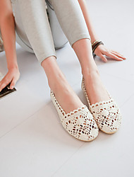 Women's Flats Spring Summer Fall Winter Comfort Cotton Casual Flat Heel Others Black Brown Beige Others