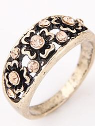 Anéis Fashion / Vintage Pesta / Diário Jóias Liga / Strass Feminino Anéis Grossos 1pç,8 Bronze / Prateado