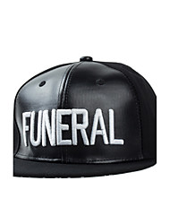Casual Letter Embroidery Printing Leather Flat Hip-Hop Street Baseball Cap