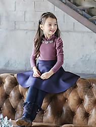 Casual/Dagelijks-Effen-Katoen-Winter-Girl's-Legging-Zwart / Blauw / Beige
