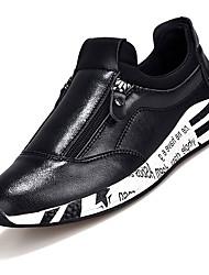 Femme-Extérieure / Décontracté / Sport-Noir-Talon Bas-Confort-Sneakers-Polyuréthane