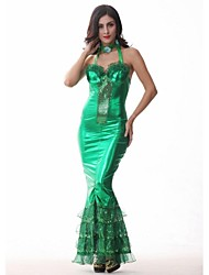 Costumes de Cosplay / Costume de Soirée Sirène / Conte de Fée Fête / Célébration Déguisement Halloween Vert MosaïqueJupe / Robe /