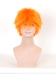 Short Synthetic Wig Yellow Color For European African American Black Women